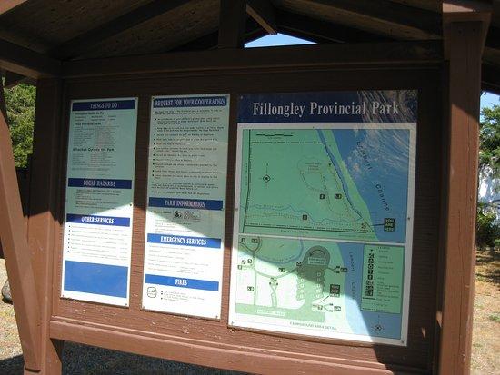 Denman Island, Canadá: Park map.