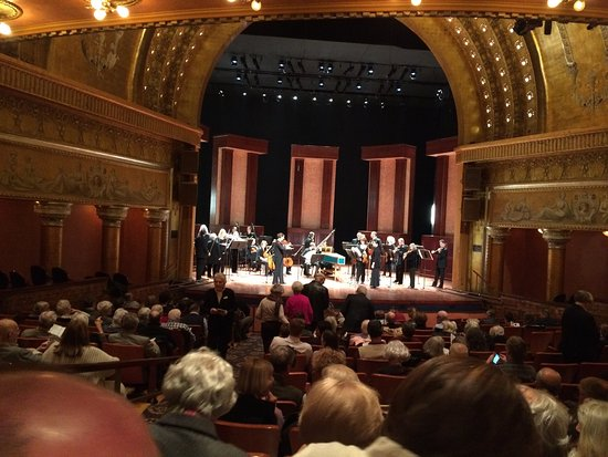 Southern Theater: The Columbus Symphony on stage just before their concert.