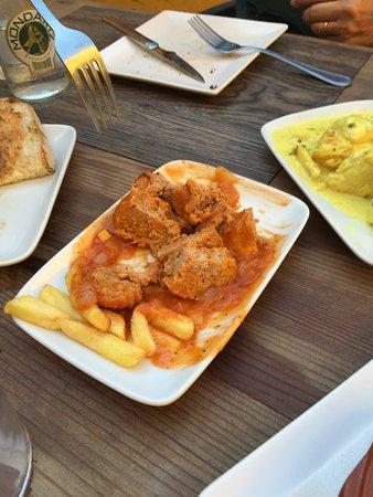 Pueblo Nuevo de Guadiaro, España: meat in salsa
