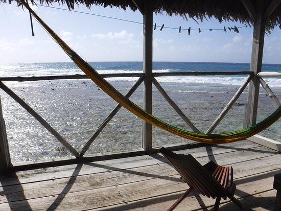 Long Caye Resort: our porch