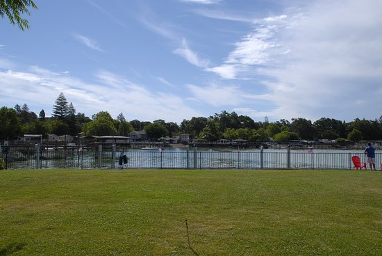 Clear Lake Cottages & Marina: view from the front lawn