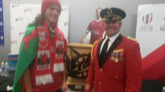 B.C. Place Stadium: The captian ( started out a bellboy ) and his welsh son