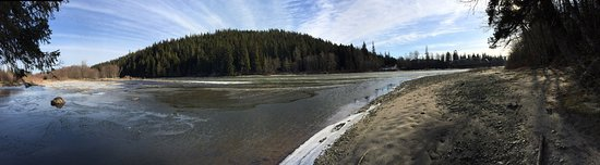 Kitimat River. First photo is across from the Rod and Gun, the second photo is from the power li