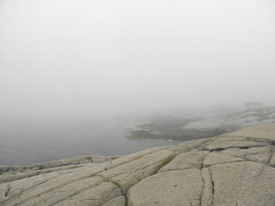 Peggy's Cove, Kanada: Typically foggy day at Peggys Cove