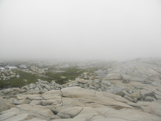 Peggy's Cove, Canada: Very foggy .....