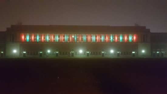 Christmas drive-by of Memorial Stadium