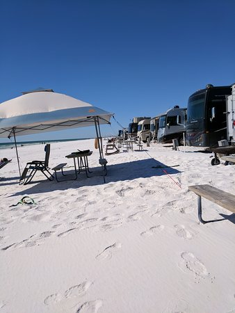 Camp Gulf, Destin FL camping right on the beach