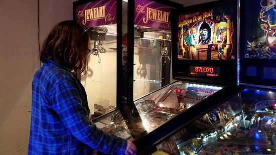 Pinegrove Family Dude Ranch: Our Favorite Pinball game in the arcade.
