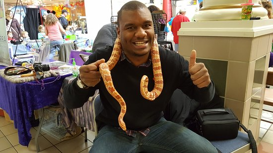 Ridgeway, VA: New Experiences!  Cob the Corn snake is very mellow!