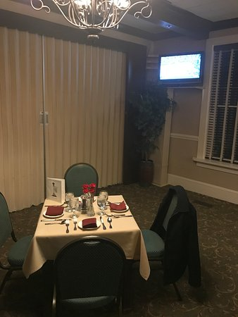 Pinehurst, Kuzey Carolina: Our own private room and table
