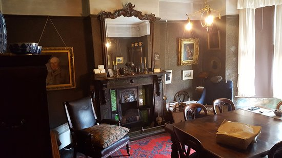 Mr Straw's House: The living room.
