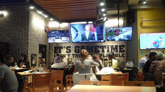Buffalo Wild Wings Interior View Dining Room Bar Area