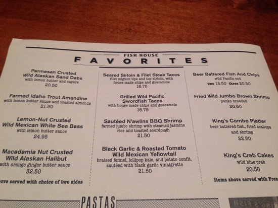 King's Fish House: Favoriets