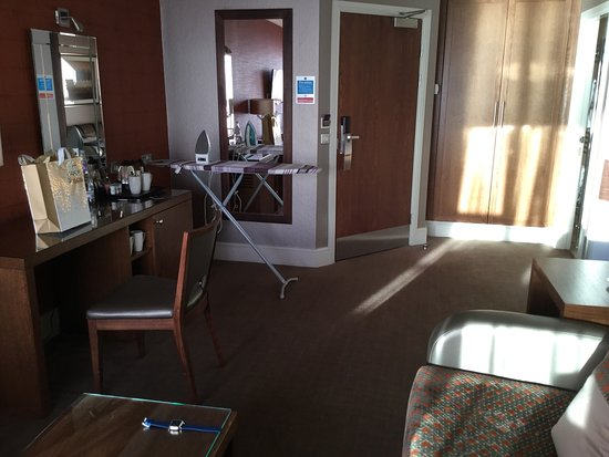West Kilbride, UK: View from suite - beautiful - room not so nice - dull dark & brown !!