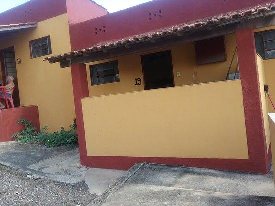Areado: Apartamento (cozinha na varanda)