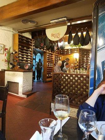 Las Nazarenas: The 'Rincón de Vino' or wine cellar.