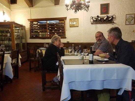 Las Nazarenas: The dining area adjacent to the wine cellar.