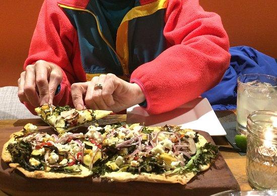 Saint Johnsbury, VT: Veggie flatbread