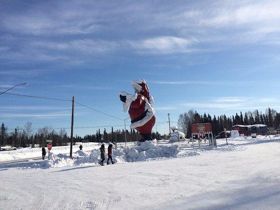 giant santa claus display at santa claus house in north pole alaska - Santa At The North Pole