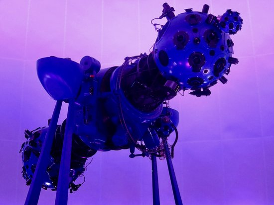 Planetario de Bogota: This is the planetarium projector, a gift from Germany...
