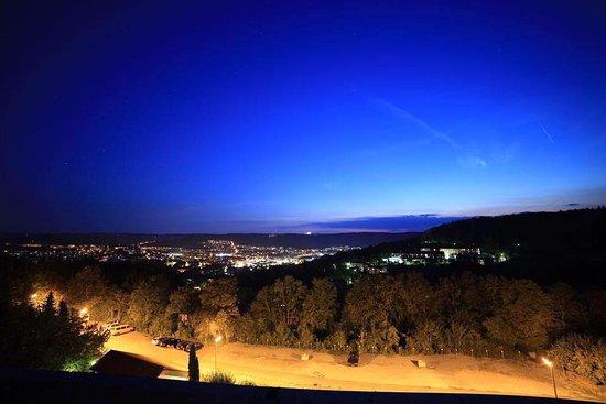 Бад-Мергентхайм, Германия: Panoramablick vom Restaurant ins Bad Mergentheim