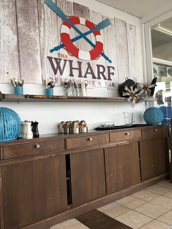 The Wharf - Restaurant & Bar : We recently ate at this restaurant which is directly in front of the wharf. We had Crab Chowder