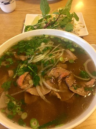 Pho Golden Palace: Very good Pho. They make their own Pho stock. Service