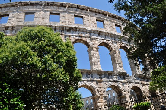 The Arena in Pula: Exterior view of Pula Arena - June 2016