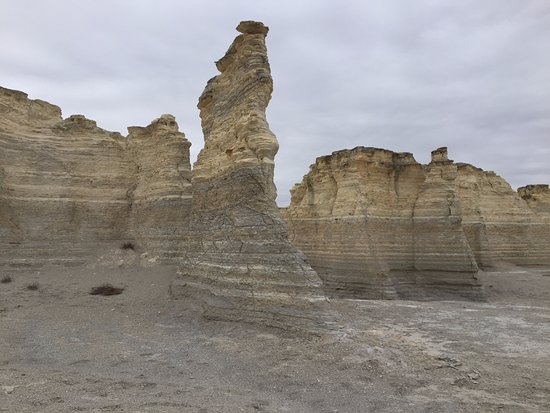 Oakley, KS: Layers of sediment characterize the rocks