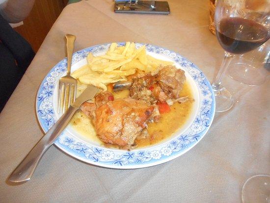 Cillorigo de Liebana, Spania: frango estufado