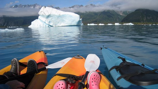 Liquid Adventures: Kayaking at Bear Glacier with friends - amazing!