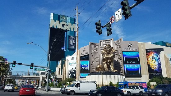 Casino at the MGM Grand: the casino front and the famous lion