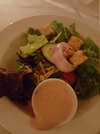 The Chimneys: Appetizer and salad  to start.