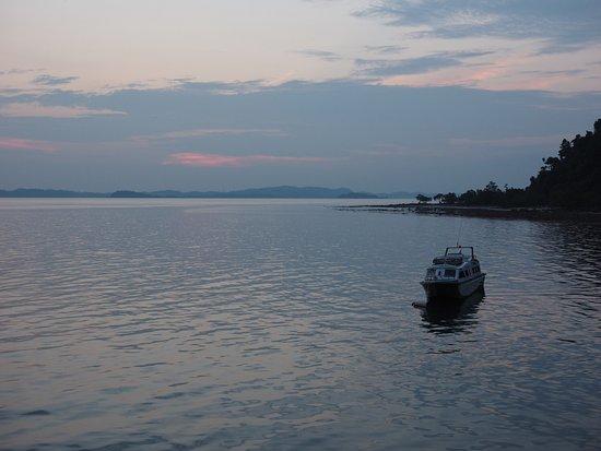 Telunas Resorts - Telunas Beach Resort: Sunset. View from the front deck.