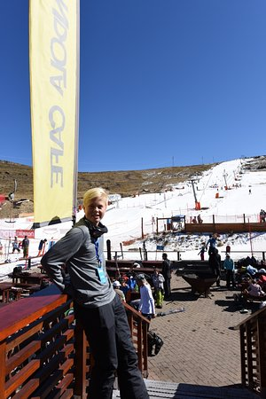 Afriski Mountain Resort: Our 15-year old at the base of the ski hill