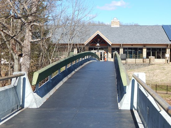view of visitor center from bridge to hotelrestaurant Picture of