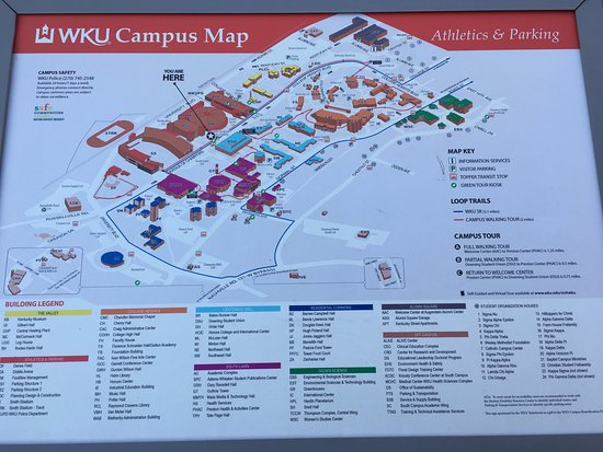Wku Campus Map campus map   Picture of Western Kentucky University, Bowling Green