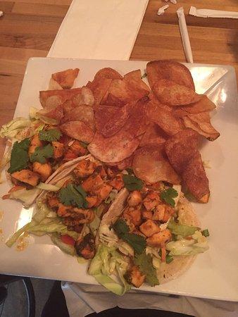 Modesto, CA: Honey Sriracha Tacos with home-made chips