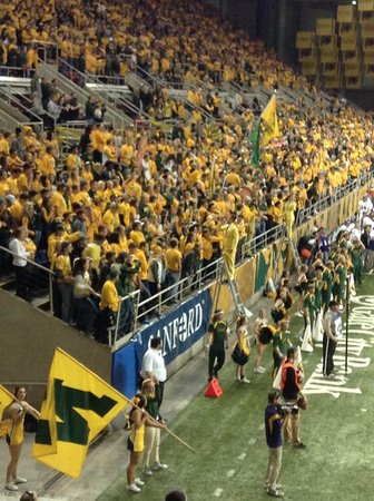 Fargodome: First 10 rows of the 2 main student sections