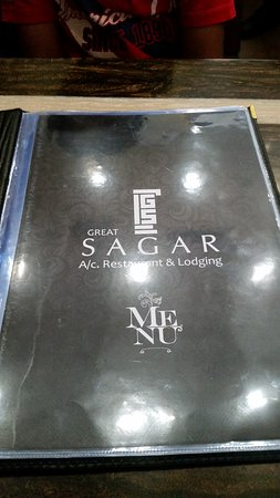 Great Sagar Restaurant: MENU