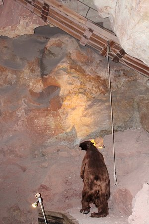 Peach Springs, AZ: Sloth inside the cavern