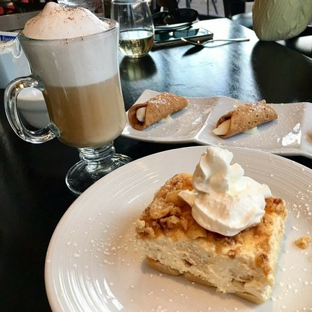 Morristown, NJ: Toasted Almond MAscarpone Cake with a Cappuccino
