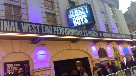 Jersey Boys London: With my low quality camera, after the show