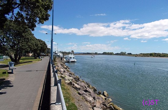 Whakatane, New Zealand: River walk view to the west