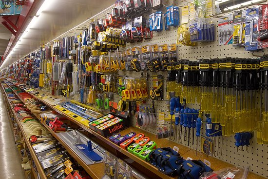 Tools and hardware for sale in E Hayes hardware store - Dee Street, Invercargill.