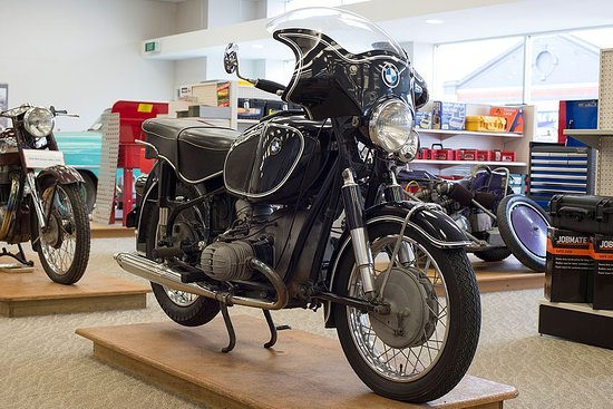E Hayes and Sons - The World's Fastest Indian: 1967 BMW on display in E Hayes and Sons store - Dee Street, Invercargill