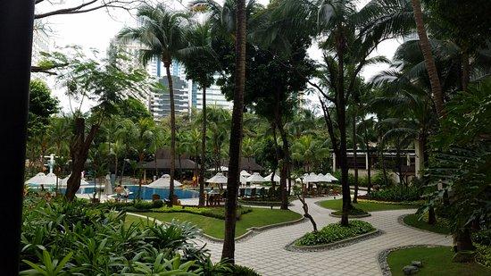 near pool area