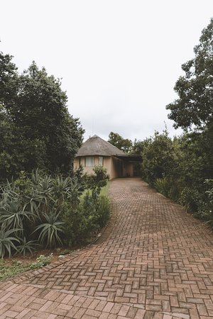 uKhahlamba-Drakensberg Park, Sudáfrica: Driveway up to one of the suites