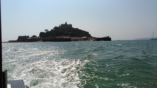 Marazion, UK: The view on the boat (our way back)