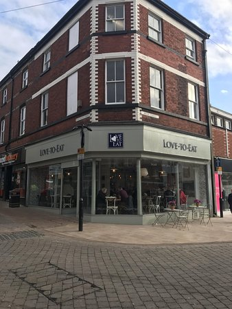 Shop front Ormskirk town centre